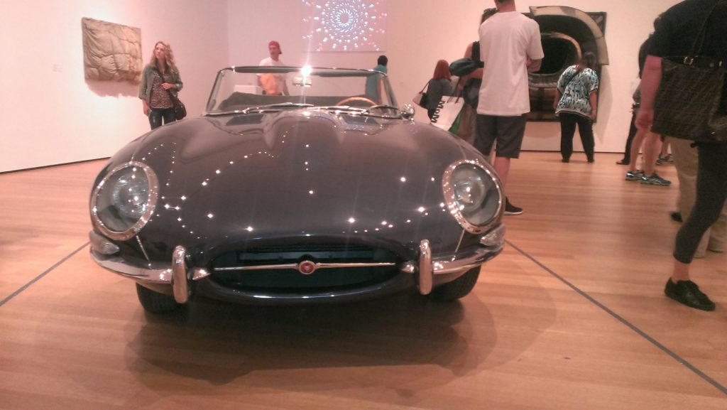 1960 Jaguar XKE MOMA exhibit neversaydiebeauty.com