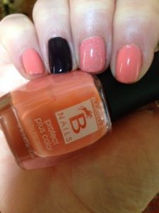 my NOTD w Barielle Protect Plus Color in Blossom w accent nail, Edgy neversaydiebeauty.com @redAllison