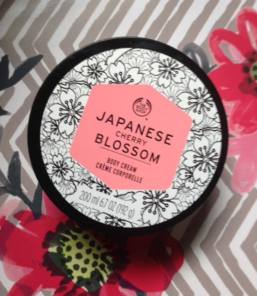 The Body Shop Japanese Cherry Blossom body cream neversaydiebeauty.com @redAllison