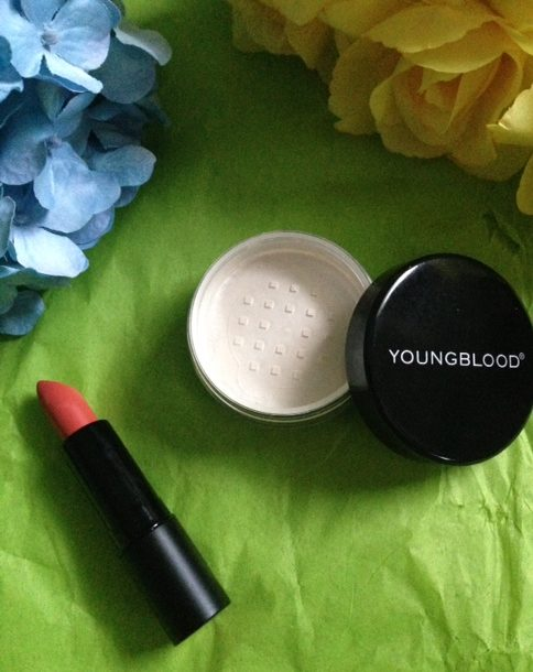 "Youngblood Cosmetics Intimatte Lipstick ""Flirt"" and Lunar Dust ""Twilight"" neversaydiebeauty.com @redAllison"