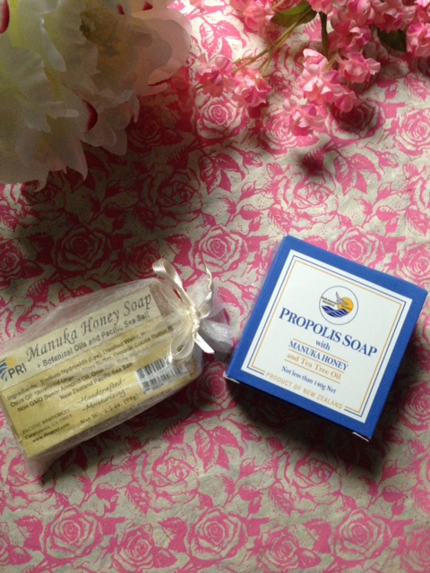 Manuka Honey soaps from Pacific Resources International in their outer packaging neversaydiebeauty.com @redAllison