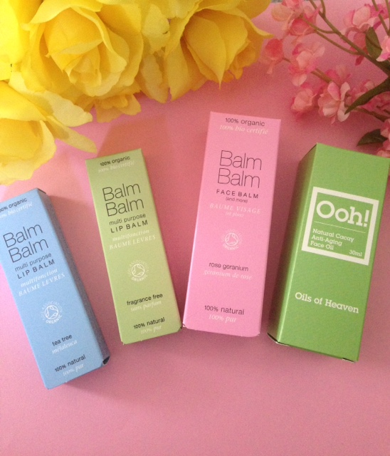 Balm Balm organic skincare and Oils of Heaven Face Oil