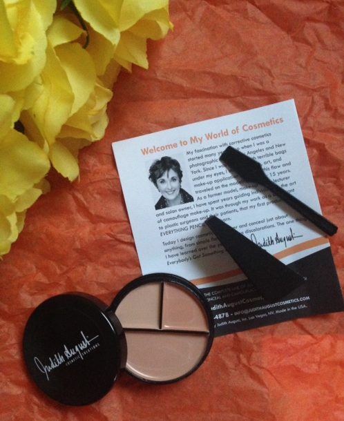 Judith August Orange Masking Creme concealer trio with three peachy shades neversaydiebeauty.com @redAllison