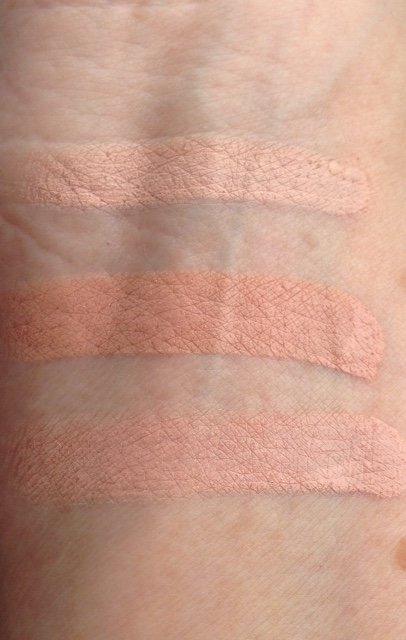 Judith August Cosmetics Solutions Orange Masking Creme concealer swatches, 3 peachy shades neversaydiebeauty.com @redAllison