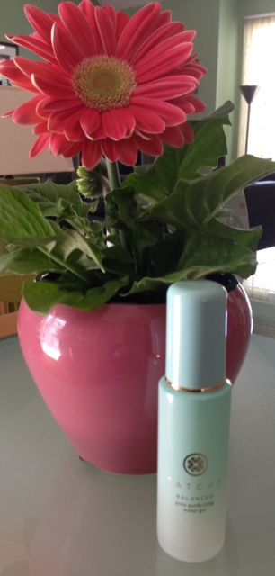 Tatcha Water Gel Moisturizer with a flowering plant neversaydiebeauty.com @redAllison