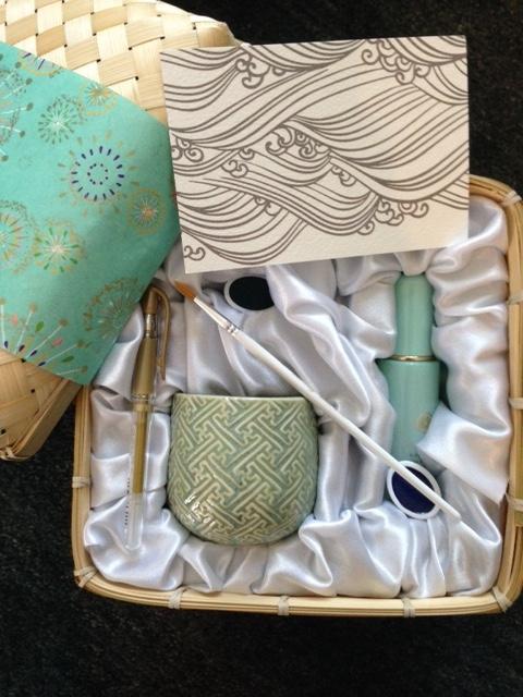 Tatcha gift box calligraphy set and Tatcha Water Gel Moisturizer neversaydiebeauty.com @redAllison