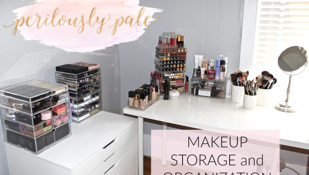 Christa from Perilously Pale's new makeup room and storage solutions