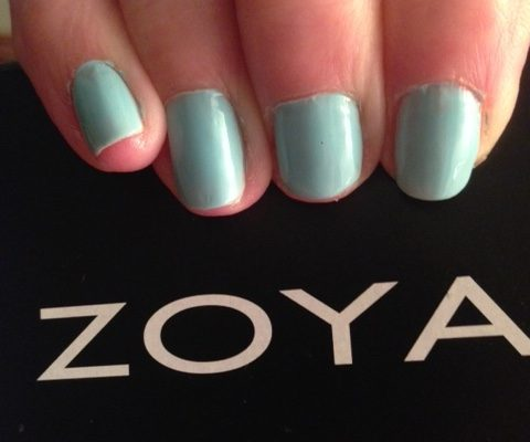 Zoya Lillian with Zoya box neversaydiebeauty.com @redAllison