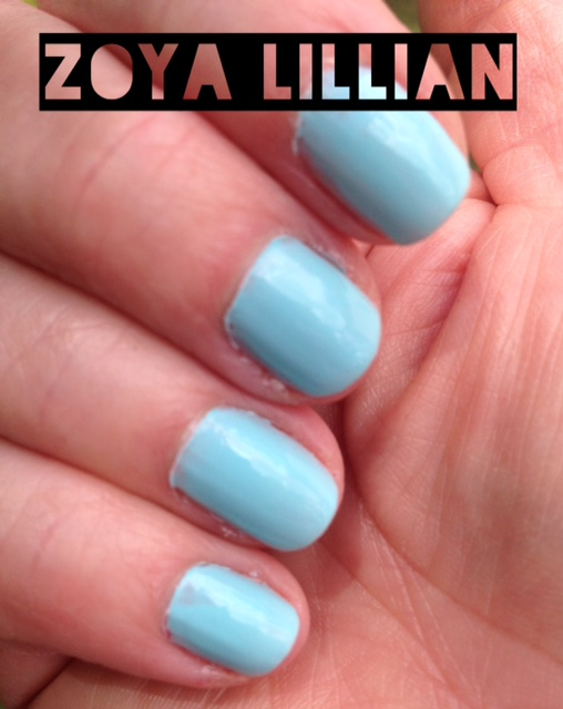 nails wearing Zoya Lillian