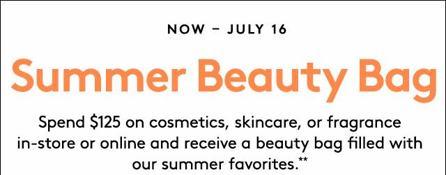 Barney's Summer Beauty Bag event