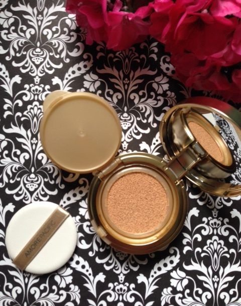 AMOREPACIFIC Age Correcting Foundation Cushion compact, open to show inside neversaydiebeauty.com