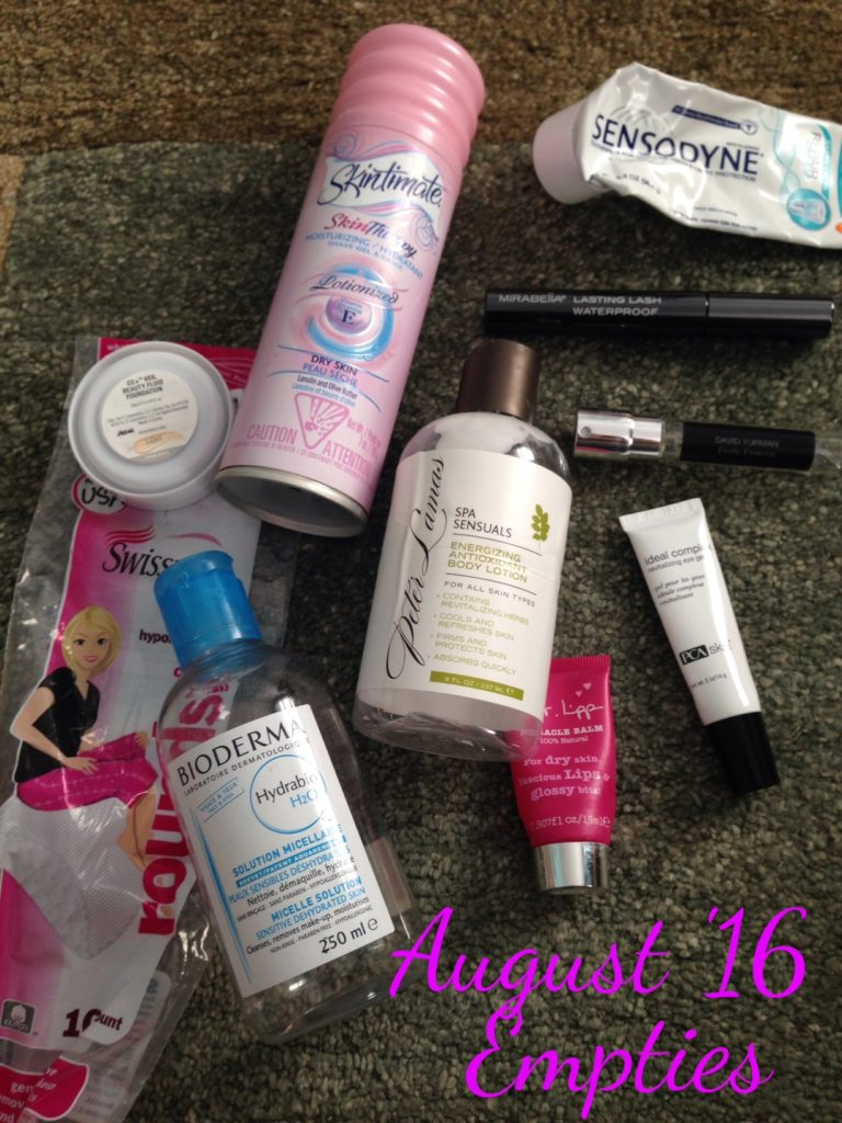 beauty empties August 2016 neversaydiebeauty.com