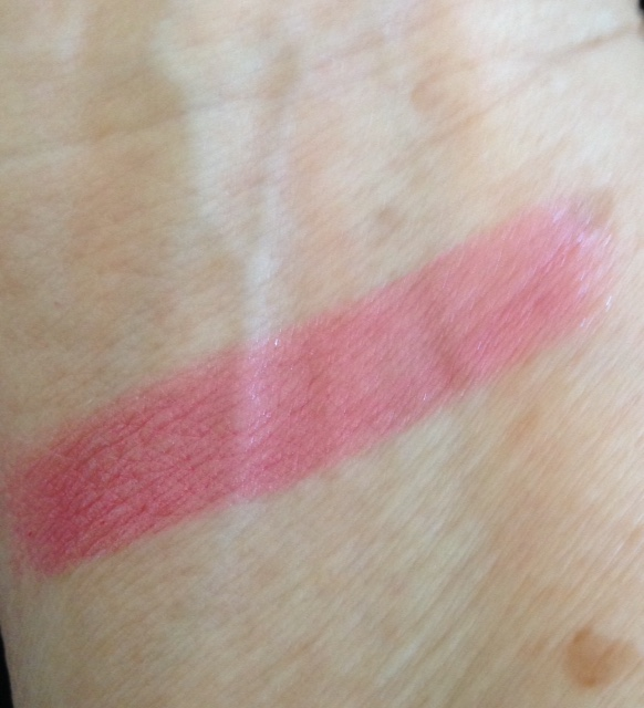 Gold Label Lipstick swatch of the shade, Private Jet, a pink/rose shade neversaydiebeauty.com