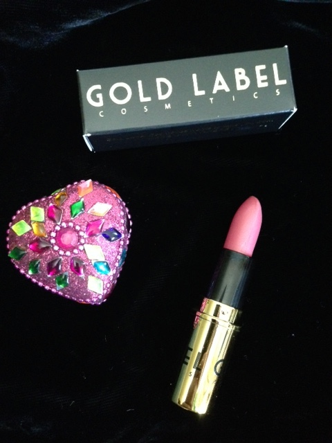 Gold Label Lipstick showing the shade, Private Jet, as well as the outer packaging neversaydiebeauty.com