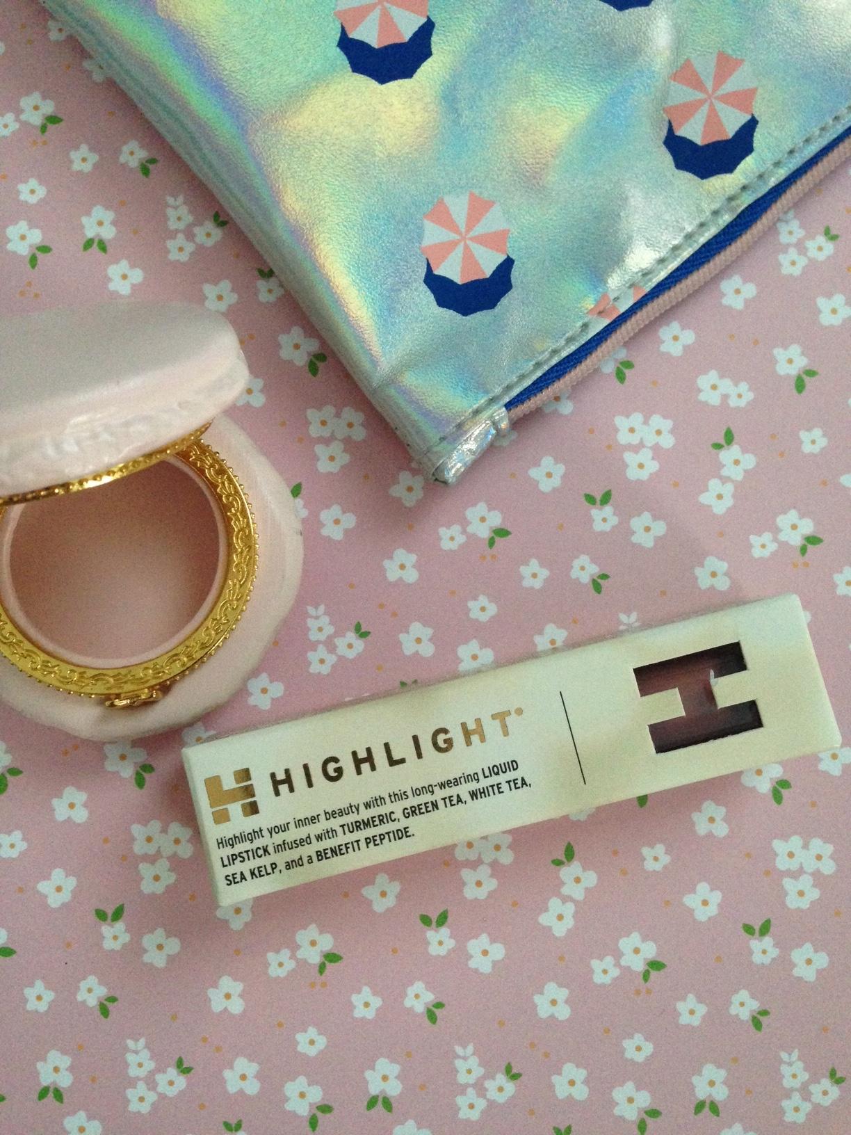 Highlight Liquid Lipstick box neversaydiebeauty.com @redAllison