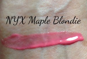 NYX Butter Gloss, Maple Blondie swatch neversaydiebeauty.com