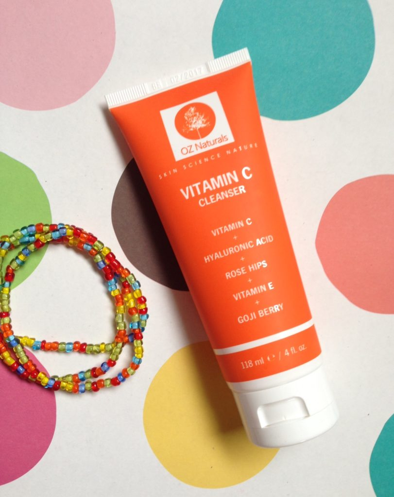 OZ Naturals Vitamin C Cleanser tube neversaydiebeauty.com