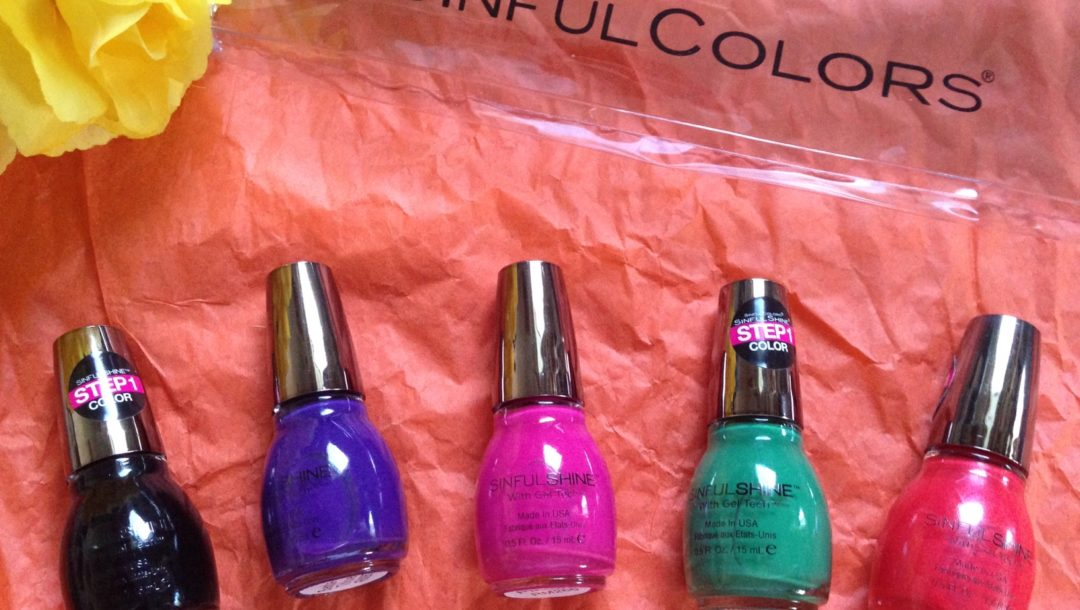 Sinful Colors bag with Sinful Colors Sinful Shine Rio Flare Collection nail polish shades neversaydiebeauty.com