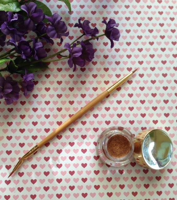 Tarte Etch & Sketch Double-ended Eyeliner Brush and Clay Pot Eyeliner, metallic bronze cream, Spirit Animal neversaydiebeauty.com