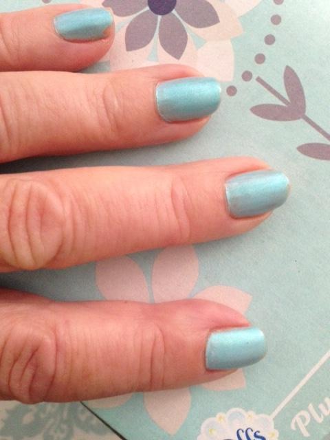 Zoya nail polish, shade Payne an aqua shimmer holo on my nails neversaydiebeauty.com