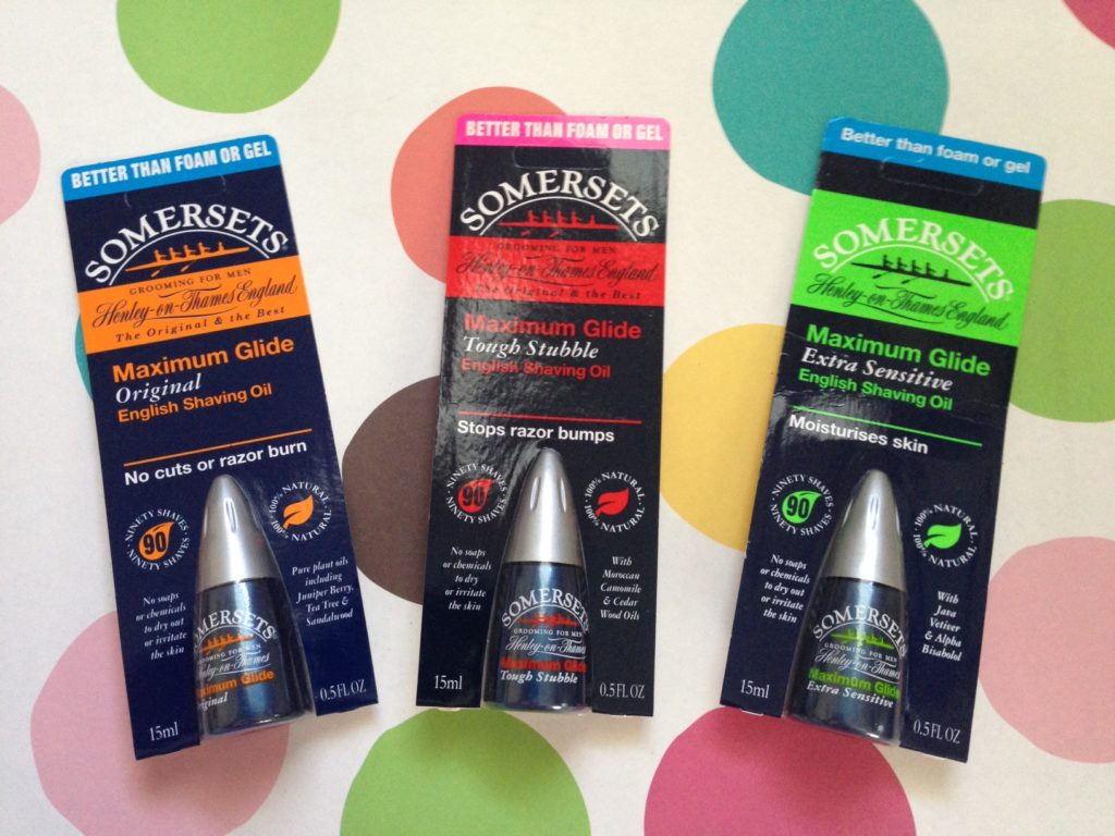 Somersets English Shaving Oil for Men, 3 varieties neversaydiebeauty.com