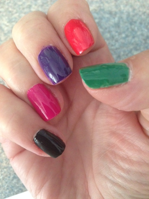 my nails indoors wearing Sinful Colors SinfulShine Rio Flare Collection nail polish neversaydiebeauty.com
