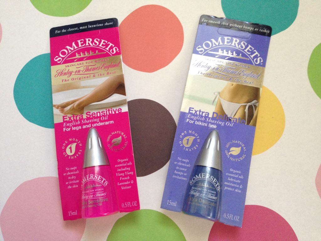 Somersets English Shaving Oil for women: legs & underarms and bikini line neversaydiebeauty.com