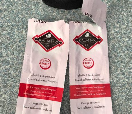 Hask Kalahari Melon Oil Shampoo & Conditioner samples neversaydiebeauty.com