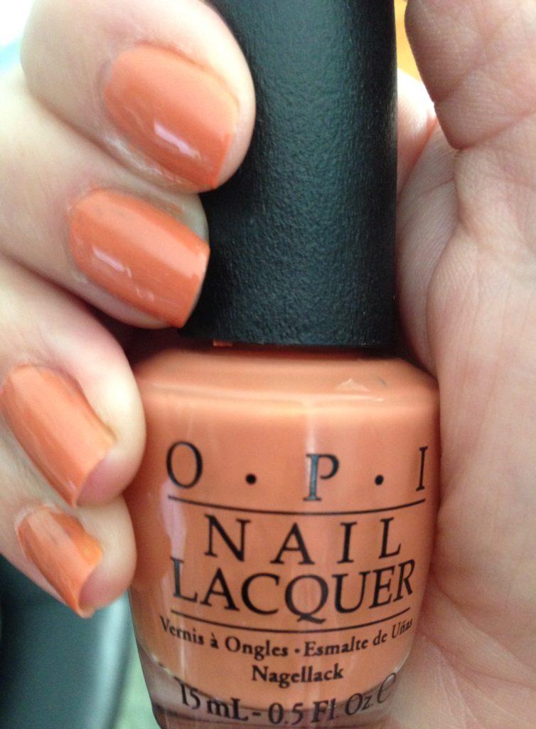 My Favorite Fall Nail Polish Shade: OPI Freedom of Peach – Never Say ...