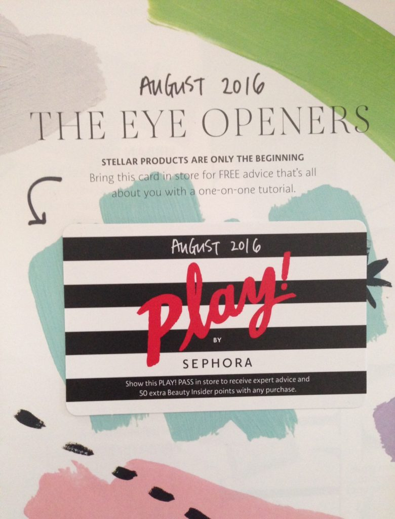 Sephora Play August 2016, The Eye Opener neversaydiebeauty.com