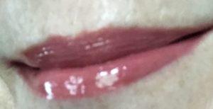 lips wearing Tarte Lip Sculptor Sass Lipstick & Gloss neversaydiebeauty.com