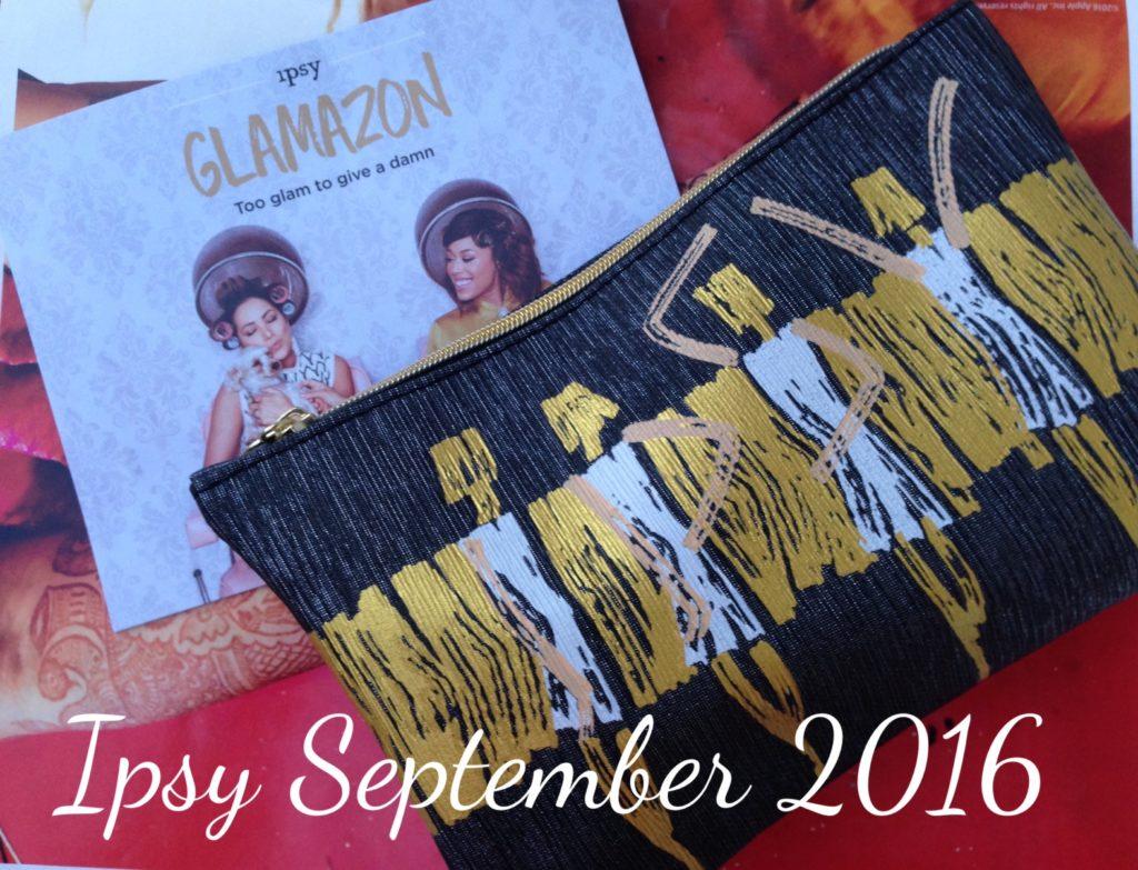 ipsy Glamazon bag September 2016 neversaydiebeauty.com