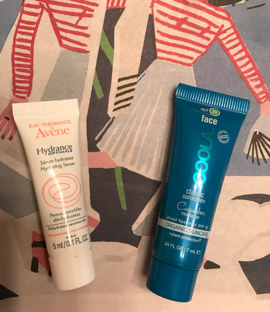2 current favorite moisturizers: Avene Hydrance Hydrating Serum, Coola Face Cucumber Moisturizer SPF 30 neversaydiebeauty.com