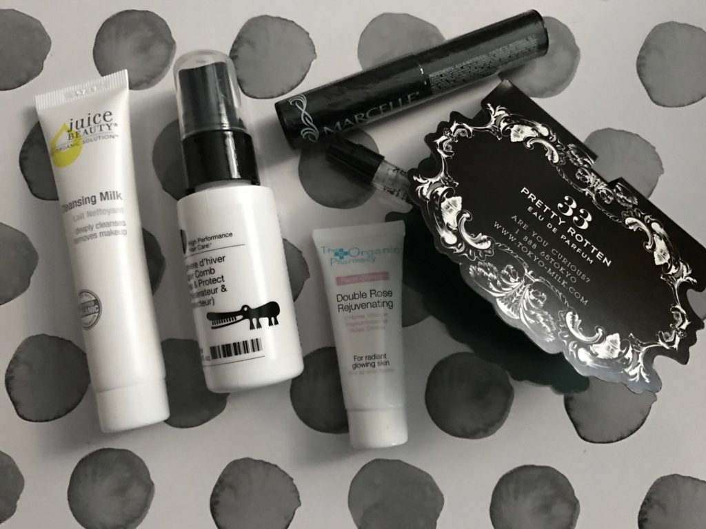 cosmetics from the October 2016 Birchbox neversaydiebeauty.com