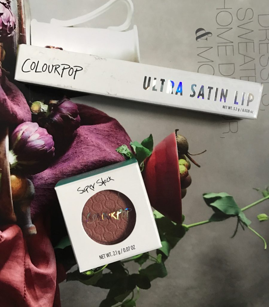 ColourPop Ultra Satin Lip & Super Shock Shadow in their packaging neversaydiebeauty.com