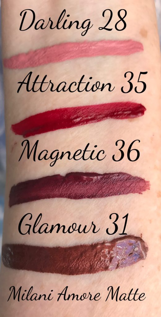 Milani Amore Matte Lip Creme 2016 swatches wet neversaydiebeauty.com