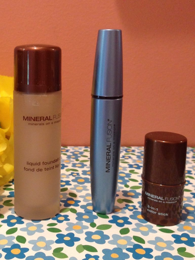 Mineral Fusion foundation, mascara and blush neversaydiebeauty.com