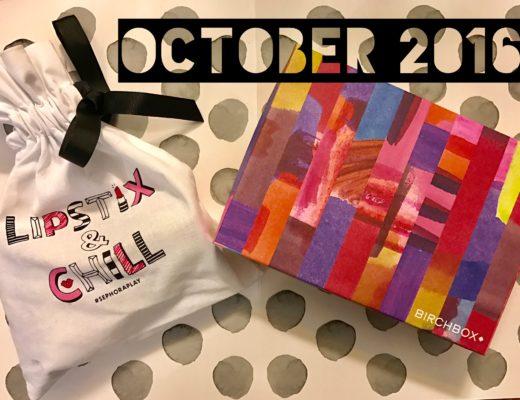 October 2016 Birchbox box & Sephora Play bag neversaydiebeauty.com
