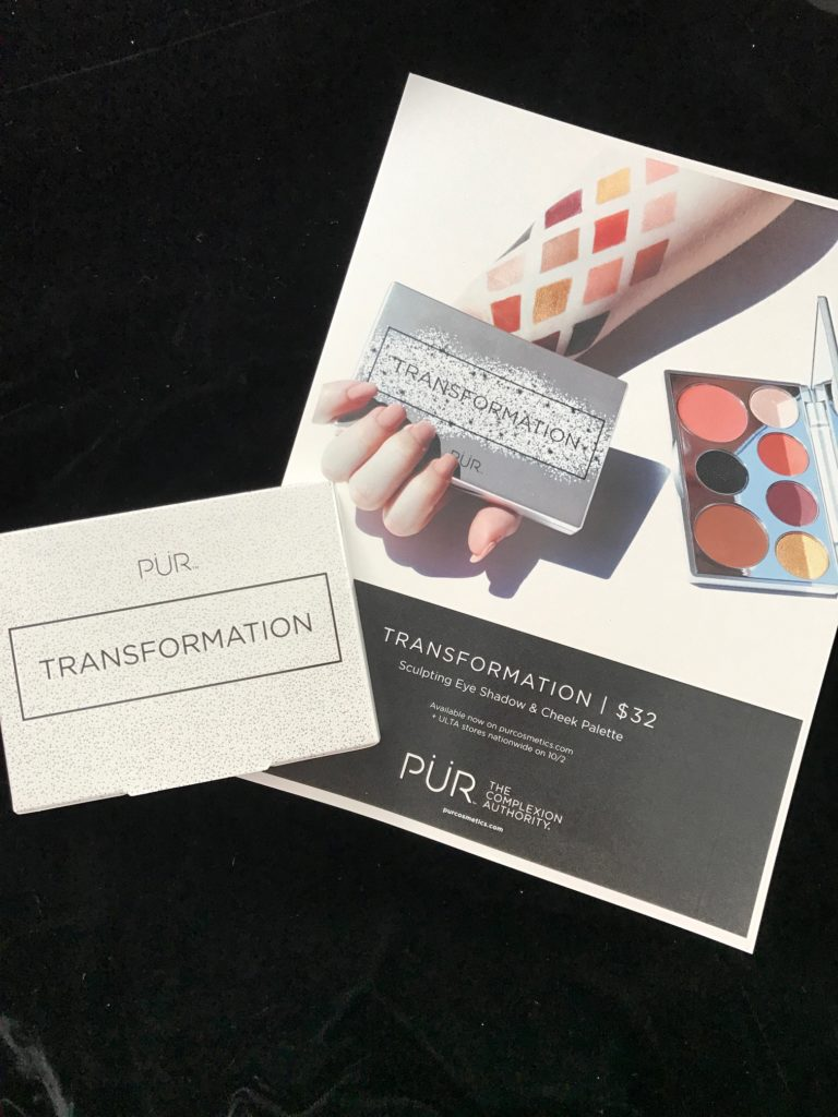 PUR Transformation palette in the box with information card neversaydiebeauty.com