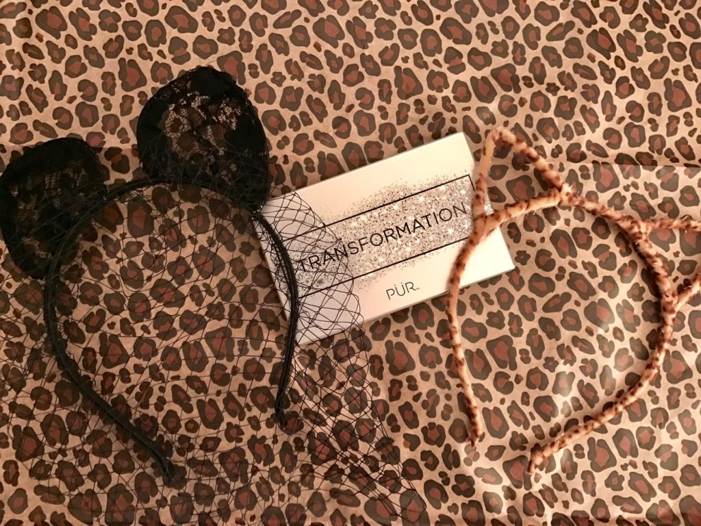 cat ears - leopard skin and black lace with veil - from PUR Cosmetics neversaydiebeauty.com
