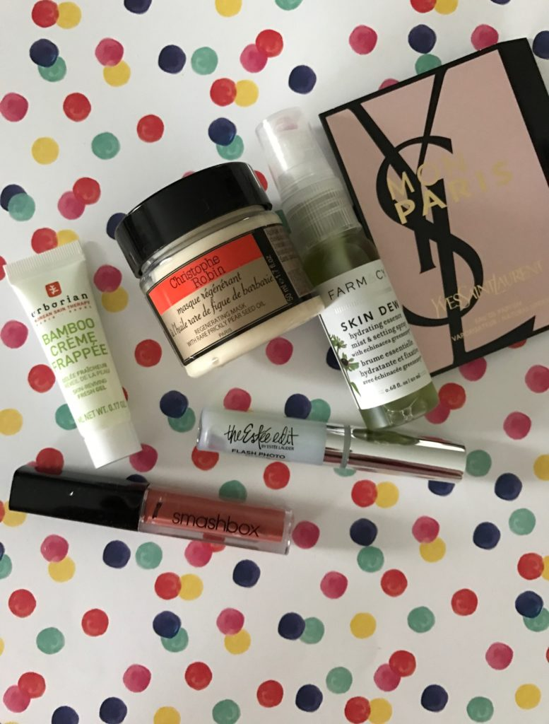 cosmetics from the October 2016 Sephora Play! subscription bag neversaydiebeauty.com