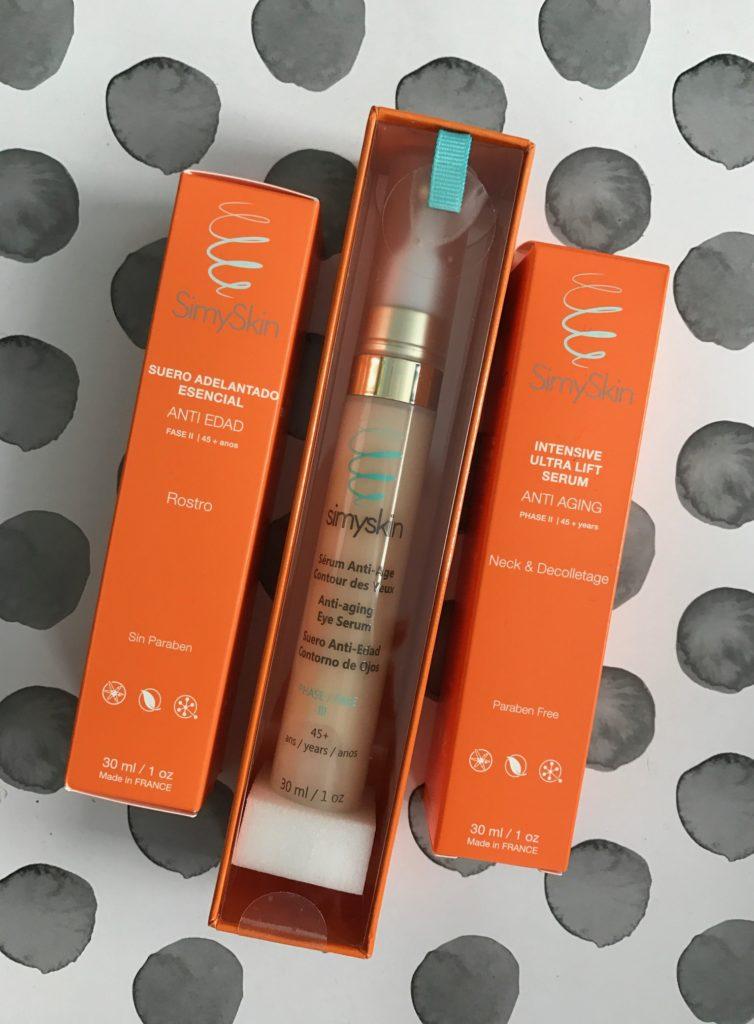 SimySkin serums in outer packaging neversaydiebeauty.com