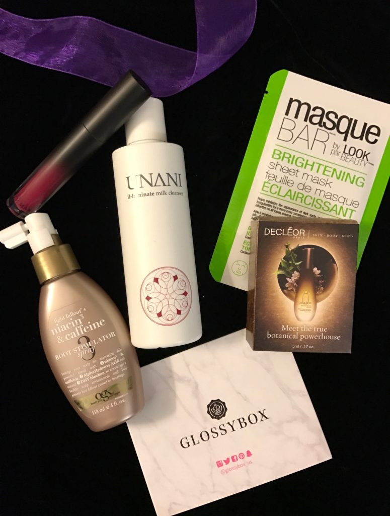 cosmetics I received in my October 2016 Glossybox neversaydiebeauty.com
