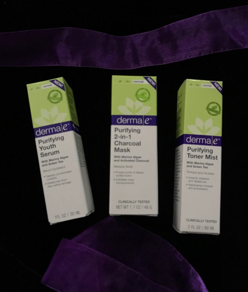 derma e Purifying products in their packaging neversaydiebeauty.com