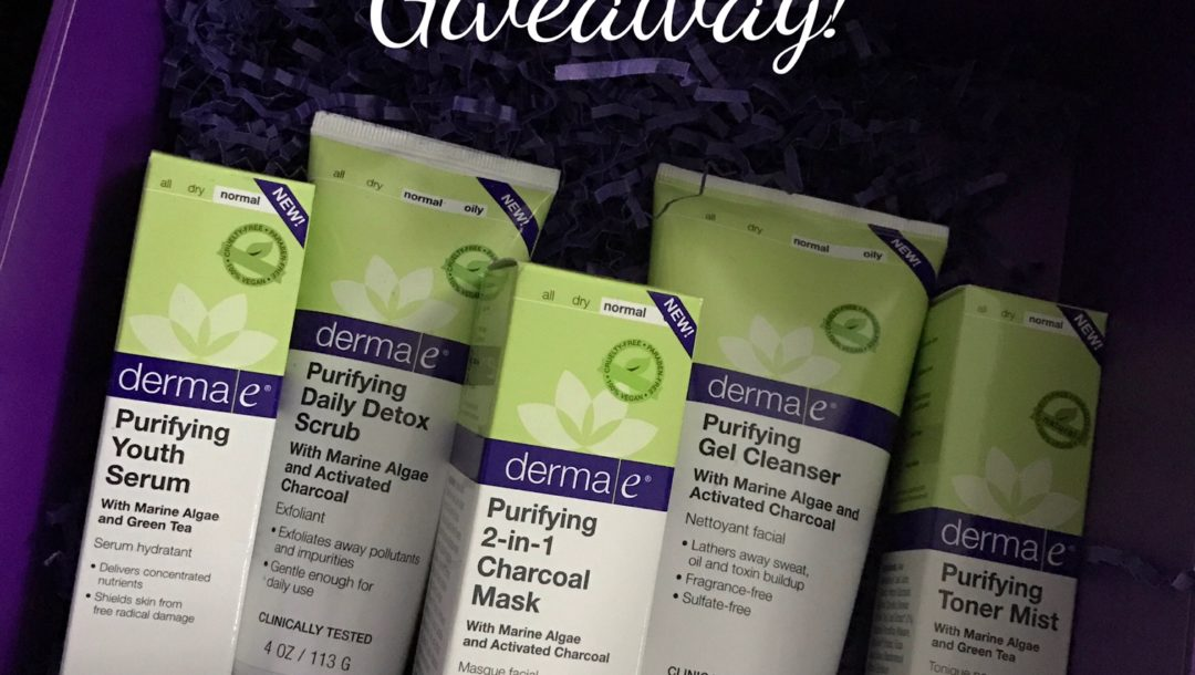 derma e Purifying skincare products & giveaway neversaydiebeauty.com