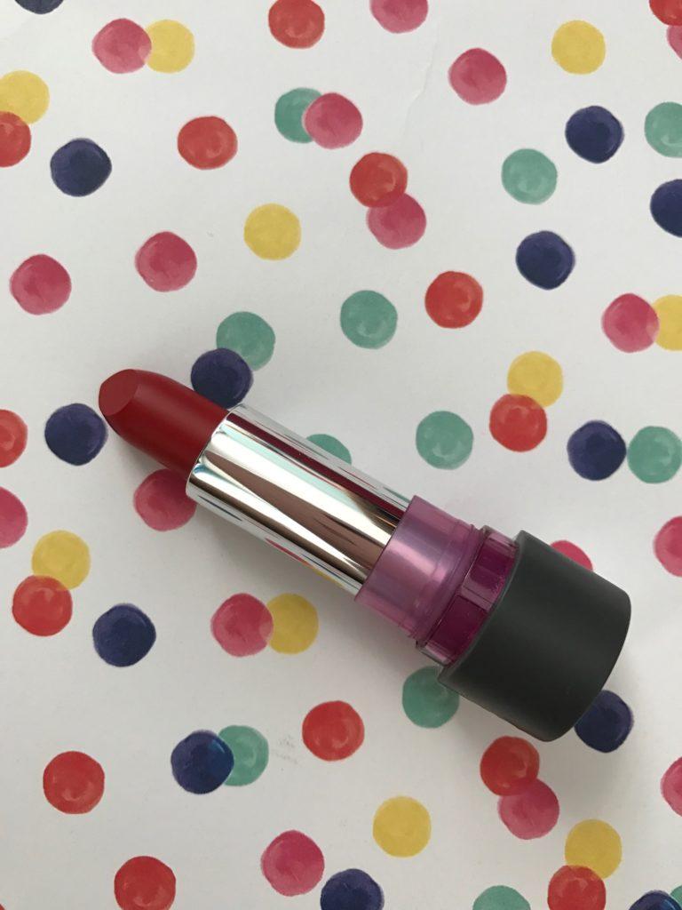Mirabella Beauty Modern Matte Lipstick, shade Crimson neversaydiebeauty.com