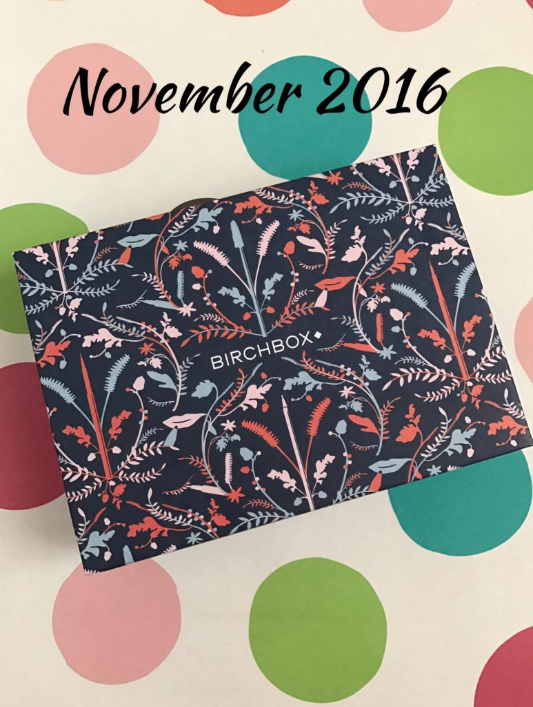 Birchbox November 2016 neversaydiebeauty.com