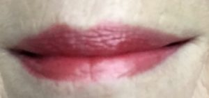 my lips wearing Urban Decay Vice Lipstick, shade Cruel metallized neversaydiebeauty.com