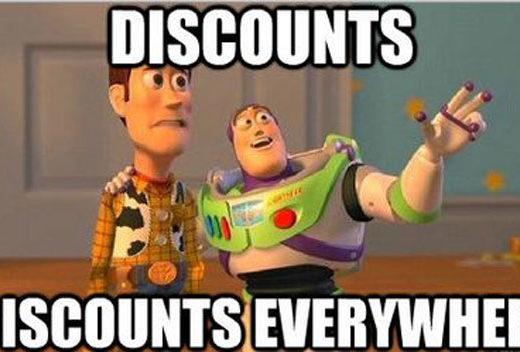 discounts meme