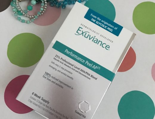 Exuviance Performance Peel AP25 outer box neversaydiebeauty.com